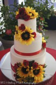 Sunflowers and roses cake