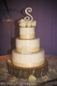 Vintage cream ribbon cake