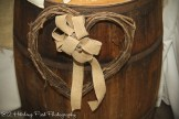 Barrel with rustic heart