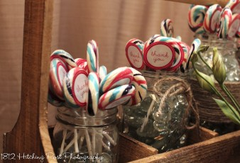 Rustic party favor display