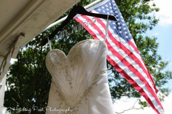 Dress detail military wedding