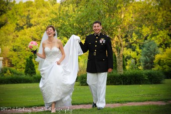 June Bride and Military groom