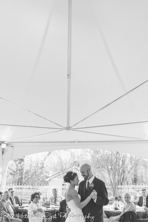 First dance under the reception tent