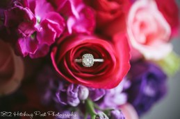 Engagement ring in flowers