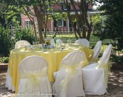Pale yellow overlay with pale yellow sashes
