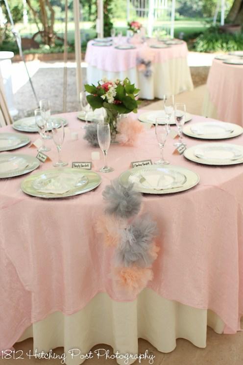 Pale pink with whimsical puffs