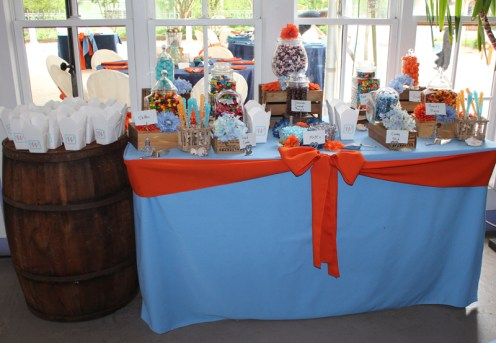 Carolina Blue and orange Candy Bar