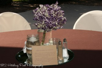 Chocolate with purple hydrangea