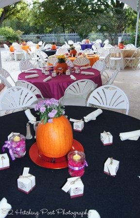 Fall wedding with black and orange