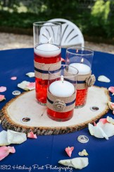 Coral Navy Outdoor Wedding-8