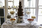 Chocolate fountain with dipping items