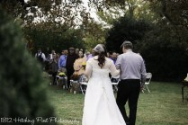 Bride walkded down aisle