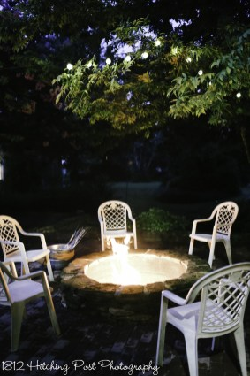 Fire pit after dark