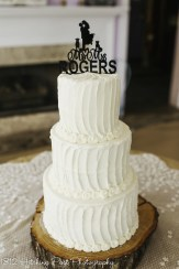 Fluted wedding cake