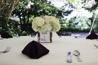 Centerpieces with table numbers