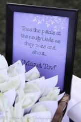 Mazel Tov petal toss