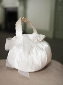 White puffy basket