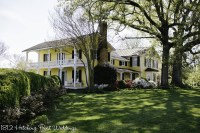 The main house and lawn