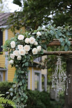 Live eucalyptus and roses