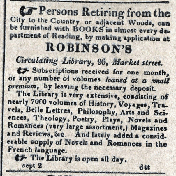 American Commercial and Daily Advertiser, September 2, 1814. Maryland State Archives, SC3392.