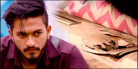 Image result for mugen rao bigg boss bed