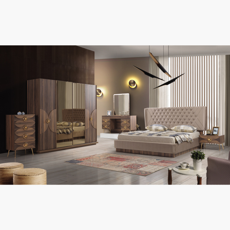 koza 6 piece king bedroom set 180x200 cms