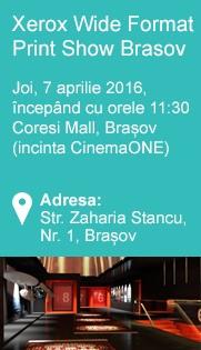 Joi 7 aprilie 2016 de la orele 11:30 Coresi Mall, Brasov (incinta CinemaOne)