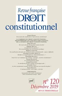Revue Française De Droit Constitutionnel : revue, française, droit, constitutionnel, Journal, Revue, Française, Droit, Constitutionnel, 2019/4, Cairn, International, Edition