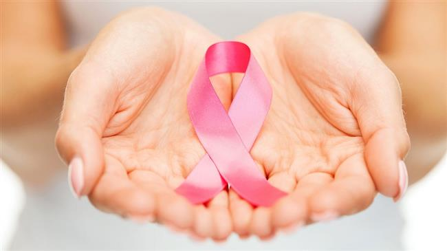 The photo shows a pink ribbon, which is an international symbol of breast cancer awareness.