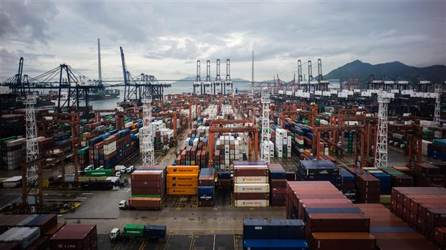 A general view shows the Kwai Chung container port in Hong Kong, China, on July 6, 2017. (Photo by AFP)