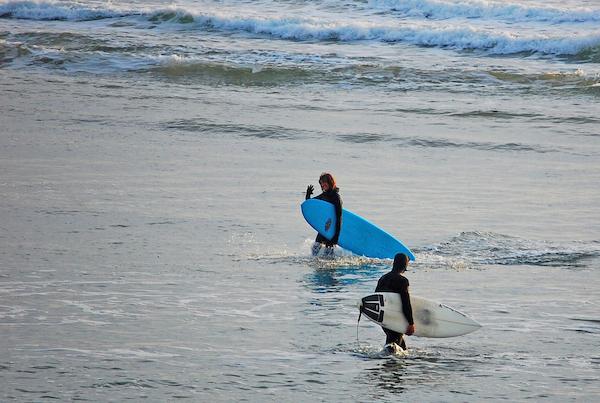 otter rock, surfing, coast