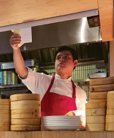 The chef at Chifa, a Peruvian-Chinese dumpling shop.