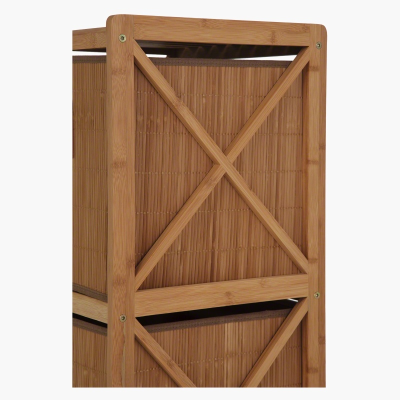 Bamboo Bathroom Cabinet with 2 Drawers