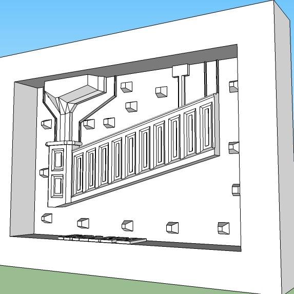 Bridge Master mold end piece Left side (A)2