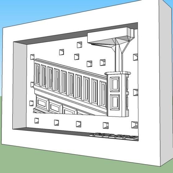 Bridge Master mold end piece Left side (B)2