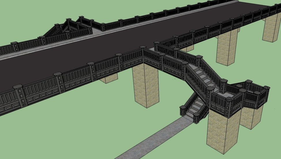 Raised highway with stairs 4