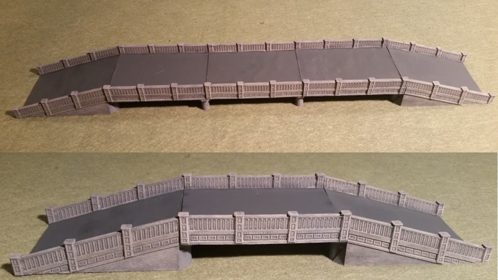 Same Bridge with and without extention spans