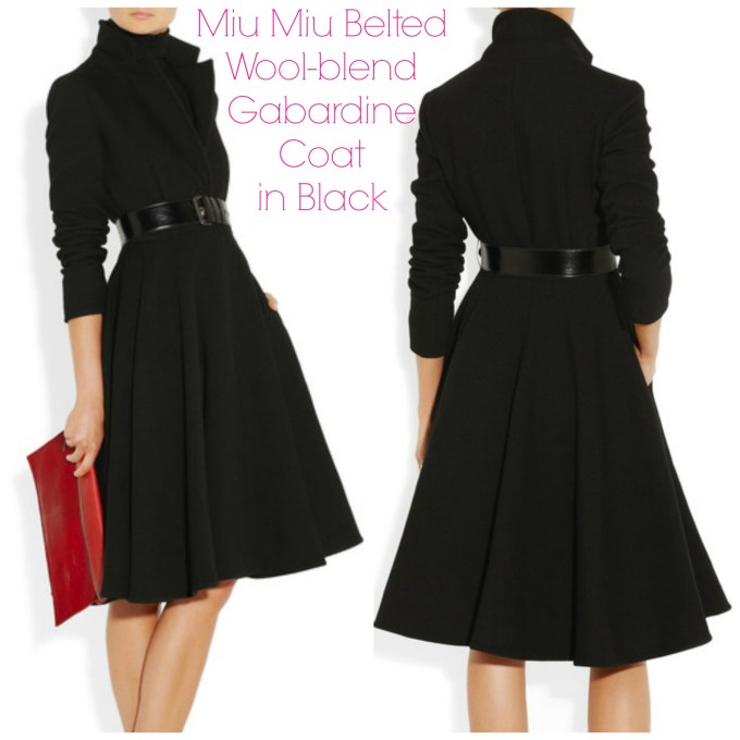 Miu Miu belted wool-blend gabardine coat
