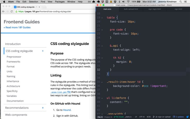 screenshot: css from css guide