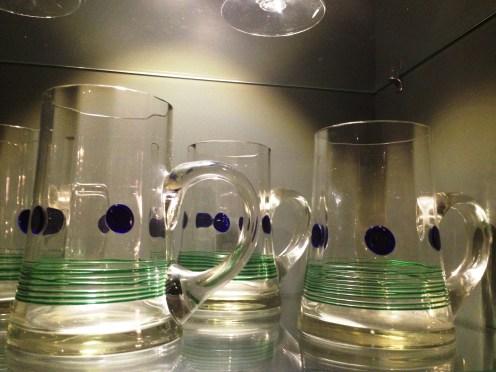 Mid century glassware