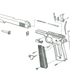 1911 pistol exploded view 2 [ 1280 x 650 Pixel ]