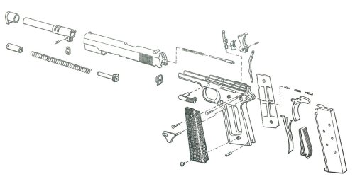 small resolution of 1911 pistol exploded view 2