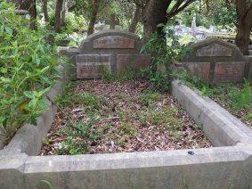 Frances Longhurst's grave - before photo