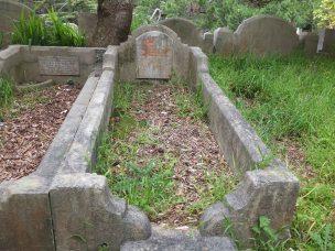 Ethel McEwen's grave - before photo