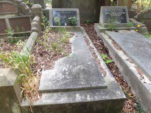 Samuel Galbraith's grave - before photo