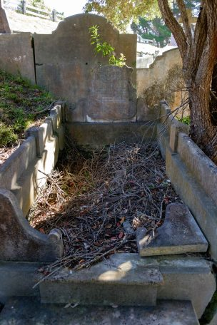 John McDuff's grave - before photo