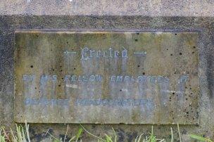Plaque on William Wolfe's grave