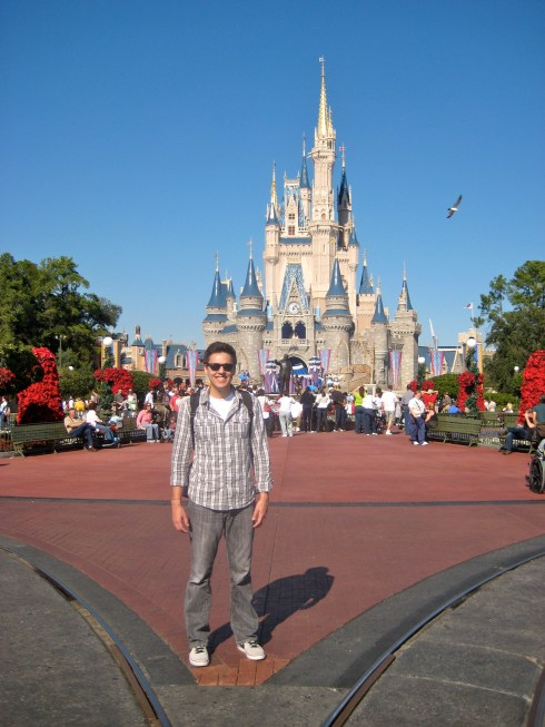 Louis in front of Cinderella Castle in 2010 - All grown up :)