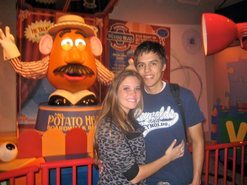 Mr. Potato Head in 2008 at Midway Mania, Louis's favorite ride!