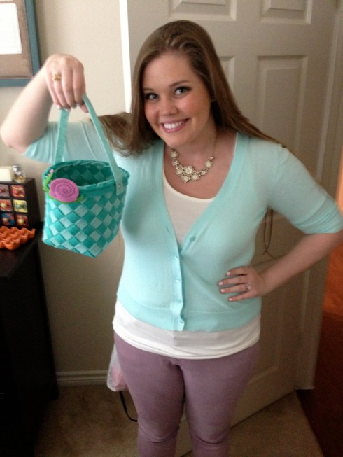 Loved my little felt Easter basket!